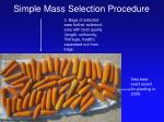 simple mass selection procedure39