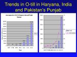 trends in o till in haryana india and pakistan s punjab