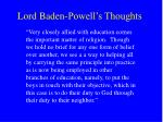 lord baden powell s thoughts