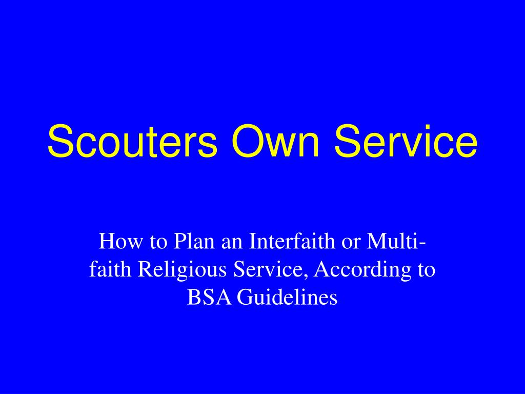 scouters own service l.