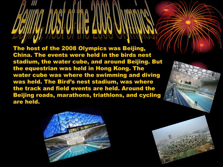 Beijing, host of the 2008 Olympics!