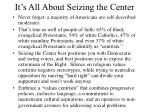 it s all about seizing the center