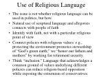 use of religious language