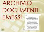 archivio documenti emessi