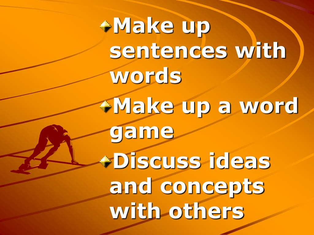Make up sentences with words
