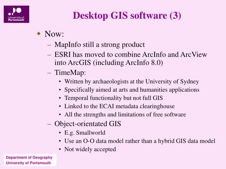 Desktop GIS software (3)