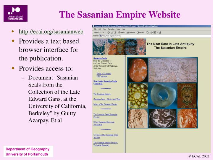 The Sasanian Empire Website