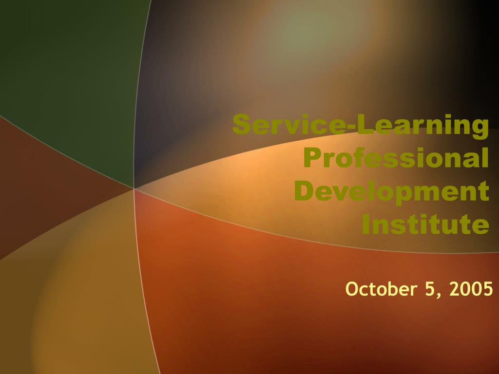 service learning professional development institute l.