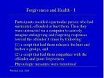 forgiveness and health i