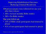 improving rehabilitation outcomes reducing criminal recidivism