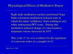 physiological effects of meditative prayer