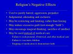 religion s negative effects