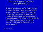 religious struggle and mortality among medically ill