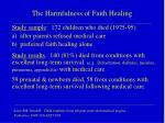 the harmfulness of faith healing