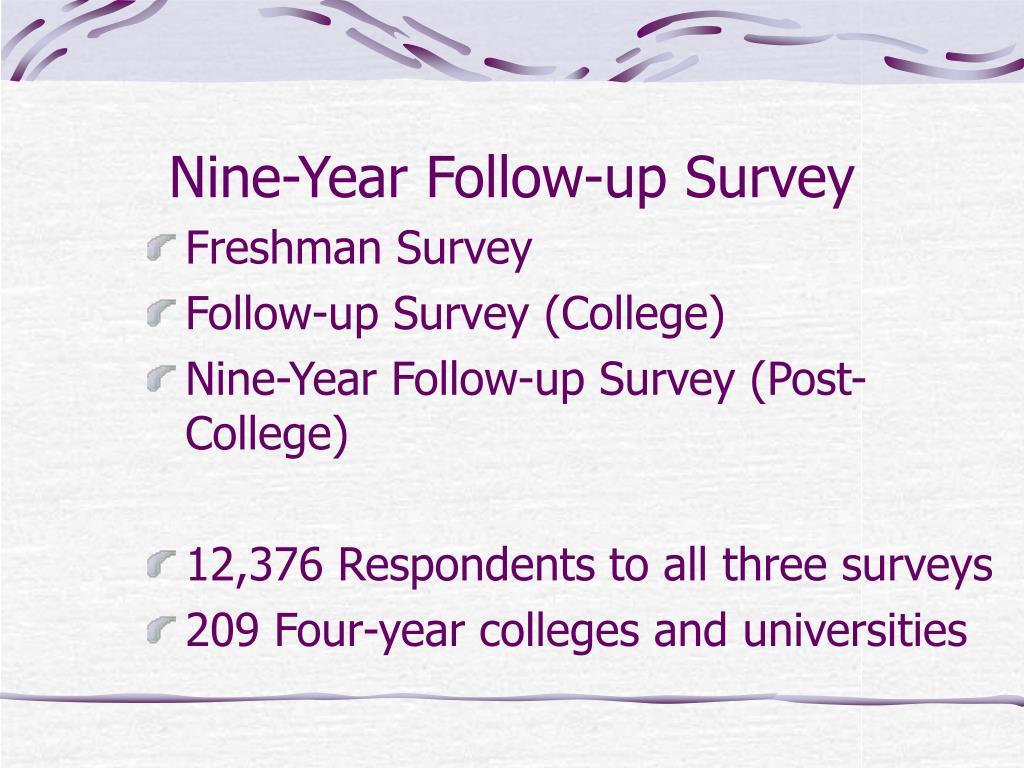 Nine-Year Follow-up Survey