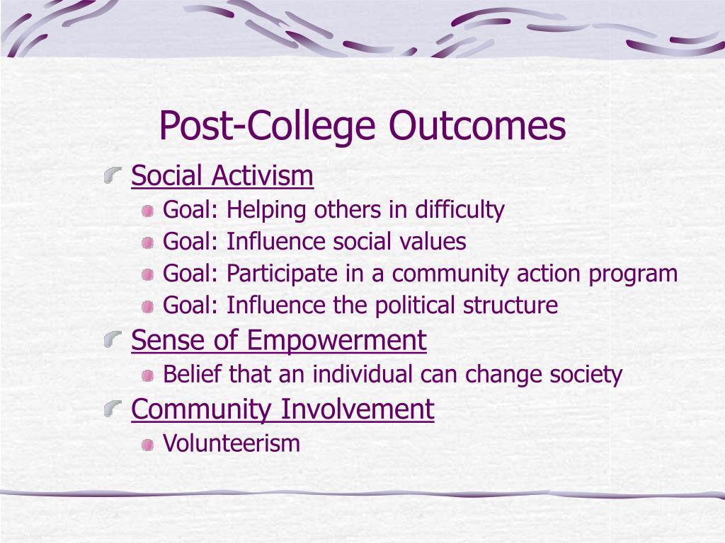 Post-College Outcomes