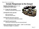 inmate responses to the gospel