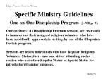 specific ministry guidelines one on one discipleship program j 900 p 9