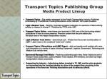 transport topics publishing group media product lineup
