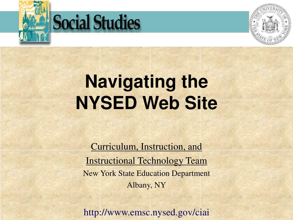 navigating the nysed web site l.