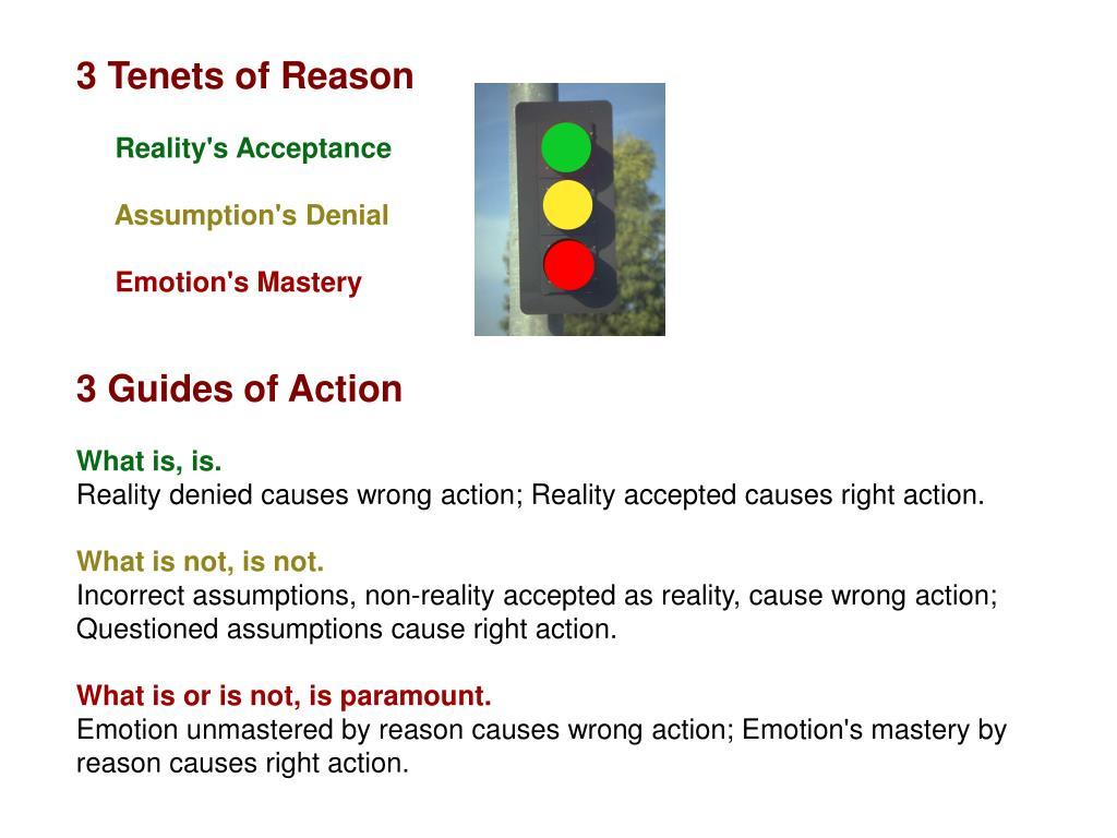 3 Tenets of Reason
