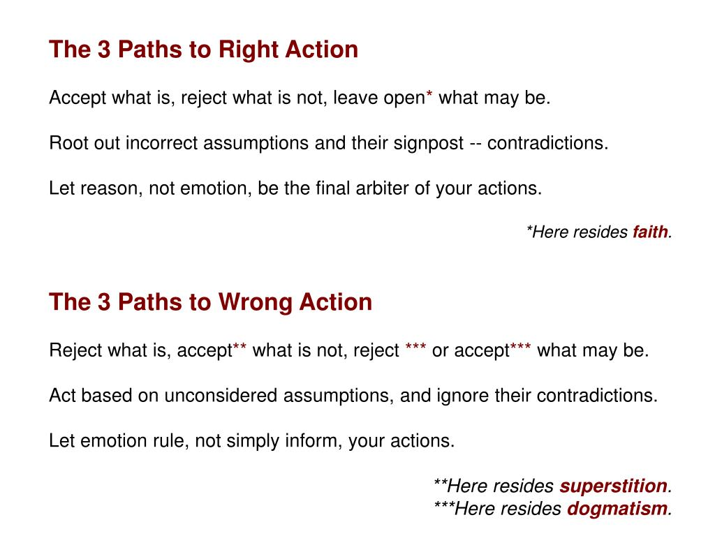 The 3 Paths to Right Action