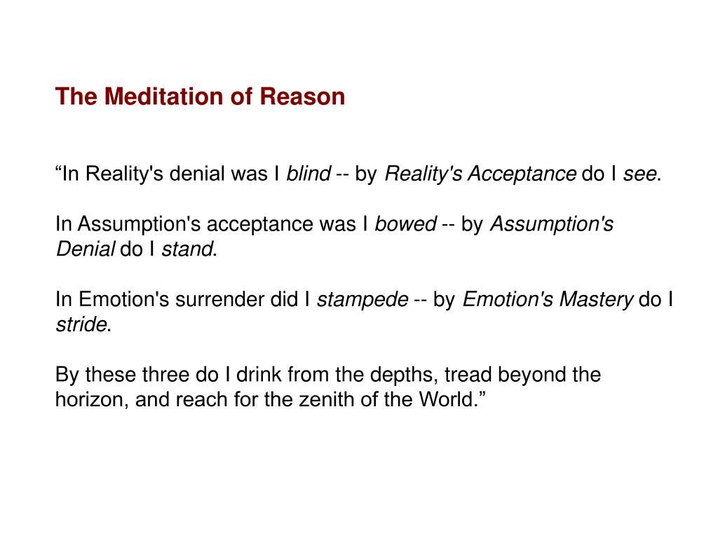 The Meditation of Reason