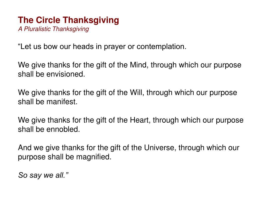 The Circle Thanksgiving
