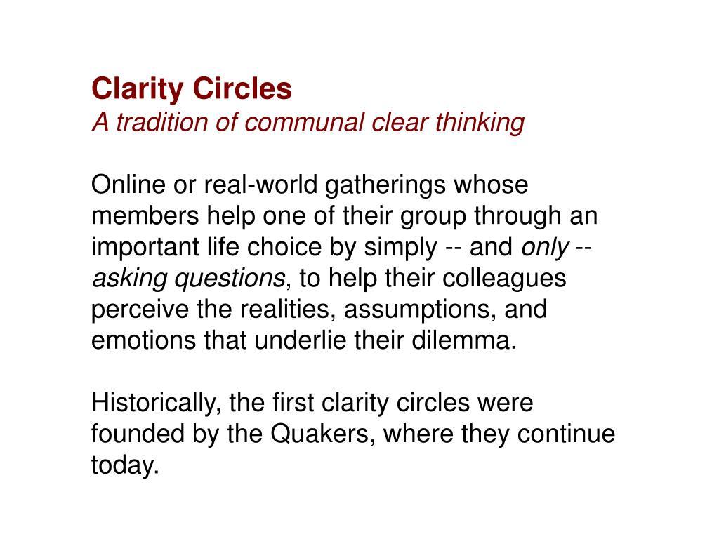 Clarity Circles