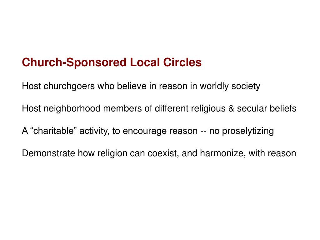 Church-Sponsored Local Circles