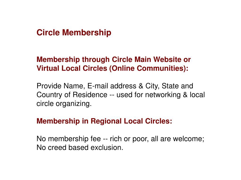 Circle Membership