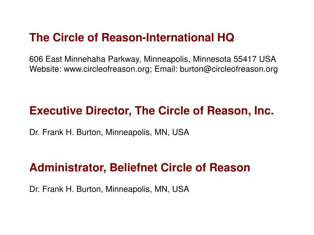 The Circle of Reason-International HQ