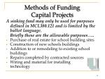 methods of funding capital projects10