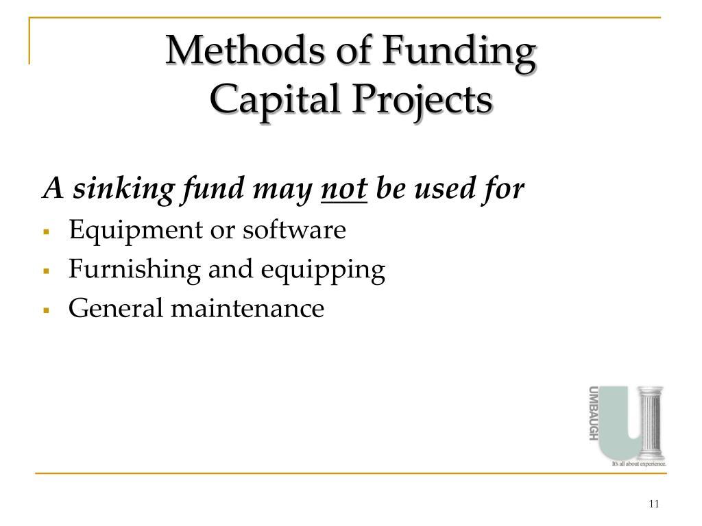 Methods of Funding