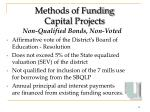 methods of funding capital projects12