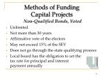 methods of funding capital projects13