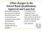 other changes in the school bond qualification approval and loan act39