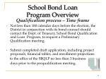 school bond loan program overview