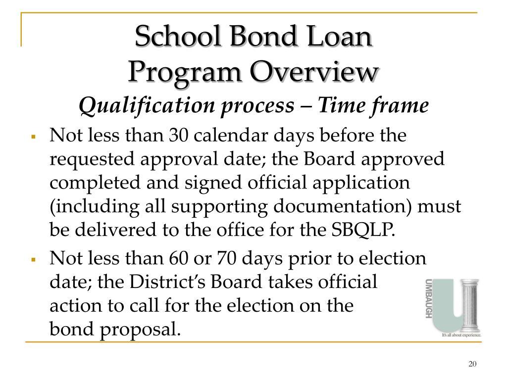 School Bond Loan