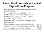 use of bond proceeds for capital expenditure purposes17