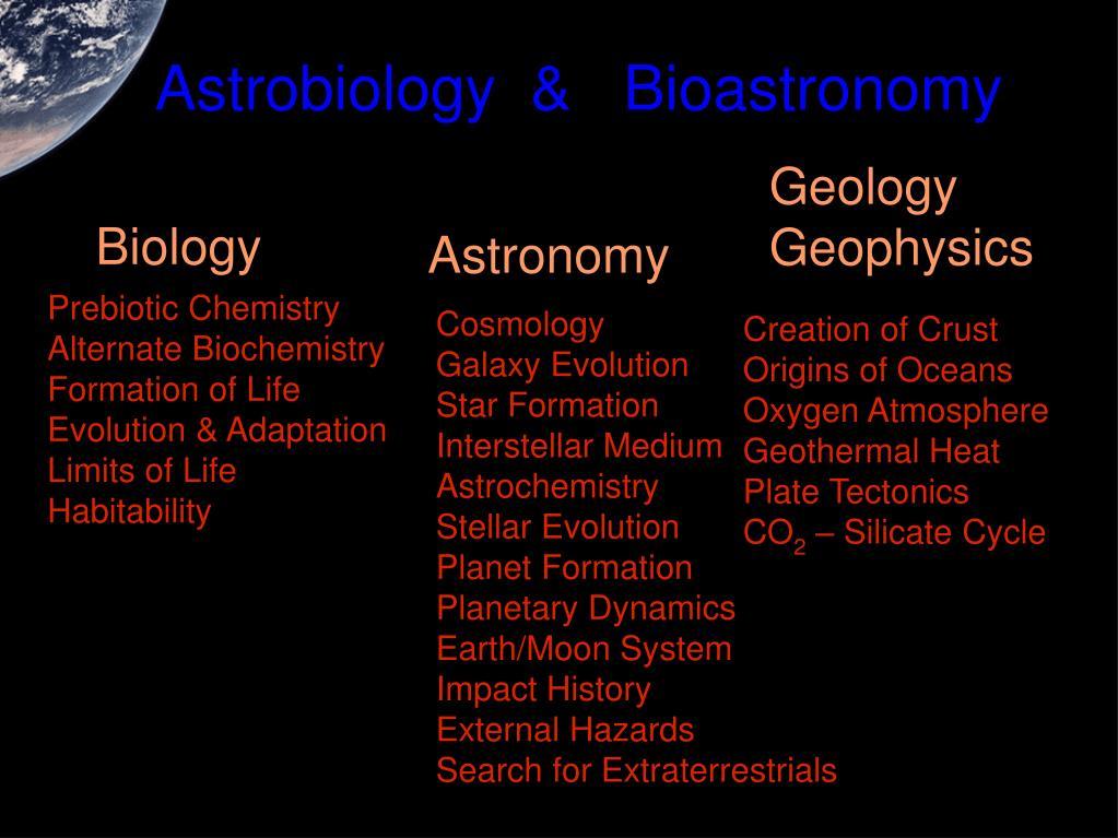 Astrobiology  &   Bioastronomy