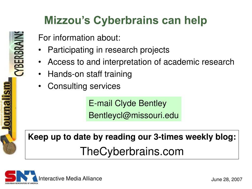 Mizzou's Cyberbrains can help