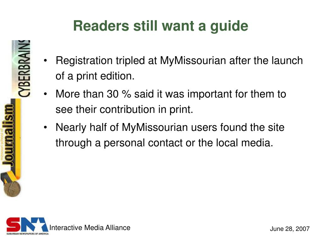 Readers still want a guide