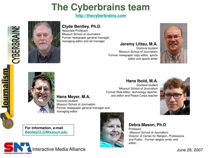 The cyberbrains team http thecyberbrains com