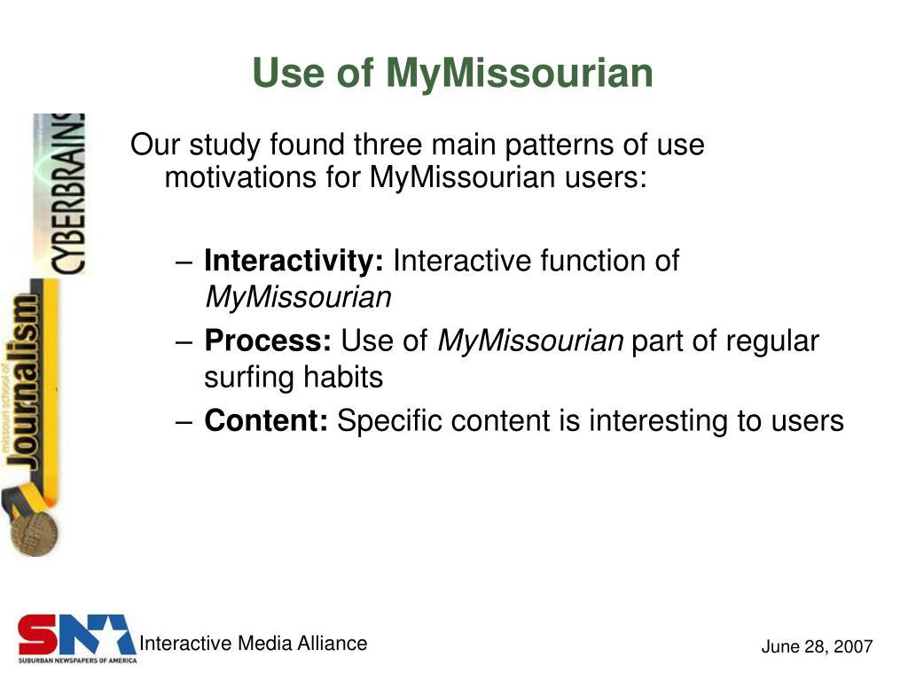 Use of MyMissourian