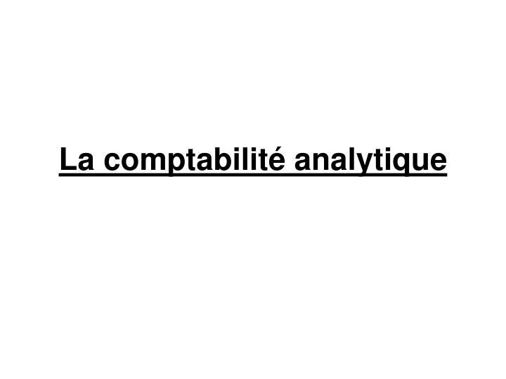 la comptabilit analytique n.