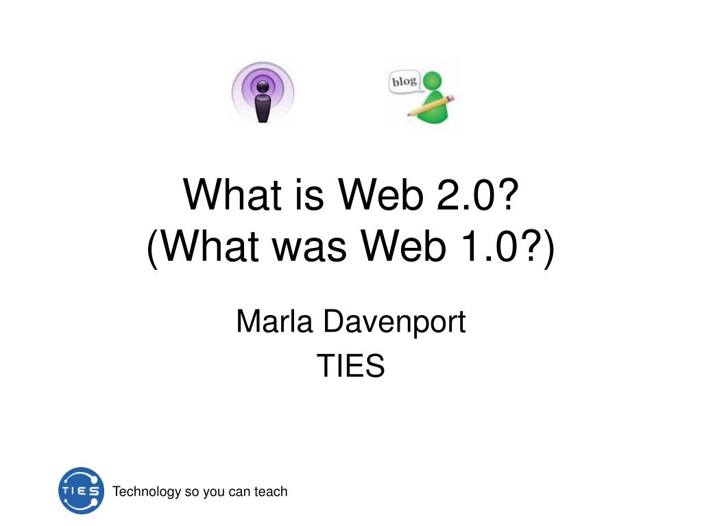 what is web 2 0 what was web 1 0 l.