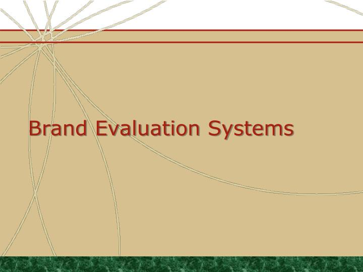 brand evaluation systems n.