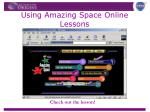 using amazing space online lessons