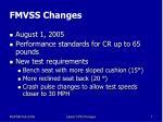 fmvss changes
